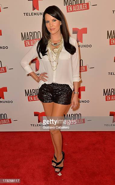 Maritza Rodriguez attends Telemundos 'Marido en Alquiler' Presentation on July 10 2013 in Miami Florida