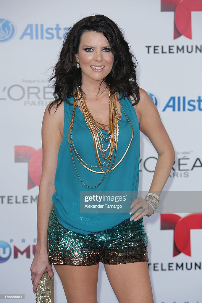<a gi-track='captionPersonalityLinkClicked' href=/galleries/search?phrase=Maritza+Rodriguez&family=editorial&specificpeople=2329220 ng-click='$event.stopPropagation()'>Maritza Rodriguez</a> attends Telemundo's Premios Tu Mundo Awards at American Airlines Arena on August 15, 2013 in Miami, Florida.