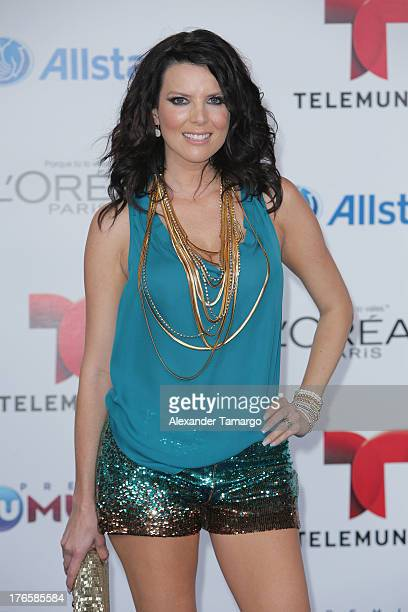 Maritza Rodriguez attends Telemundo's Premios Tu Mundo Awards at American Airlines Arena on August 15 2013 in Miami Florida