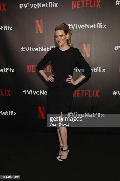 Maritza Rodriguez attends the Vive Netflix 2017 at Museo Casa de la Bola on August 2 2017 in Mexico City Mexico
