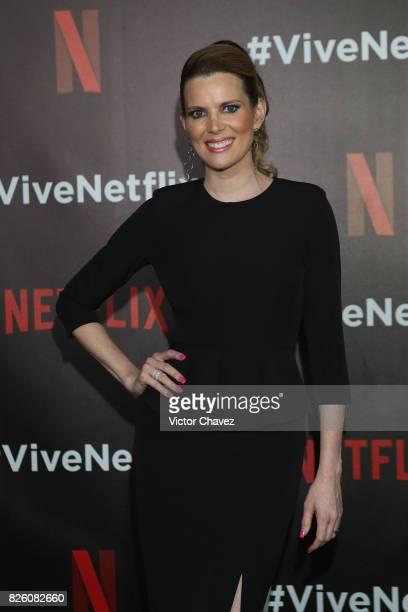 Maritza Rodriguez attends the Vive Netflix 2017 at Museo Casa de la Bola on August 2 2017 in Mexico City Mexico