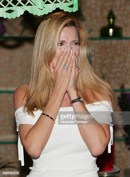 Maritza Rodriguez is seen at Telemundo Studios during a surprise birthday party on September 1 2016 in Miami Florida