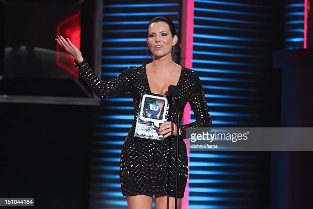 Maritza Rodriguez onstage at Telemundo's Premios Tu Mundo Awards at Fillmore Miami Beach on August 30 2012 in Miami Beach Florida