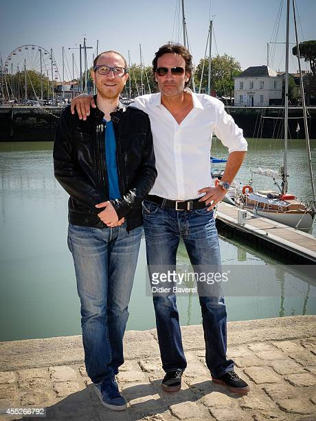 Marius Colucci and Anthony Delon attend the photocall of 'Interventions' as part of 16th Festival of TV Fiction of La Rochelle on September 11 2014...