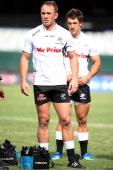 Marius Joubert of the Sharks during the Vodacom Cup match between Sharks XV and Western Provice at Mr Price Kings Park on March 17 2012 in Durban...
