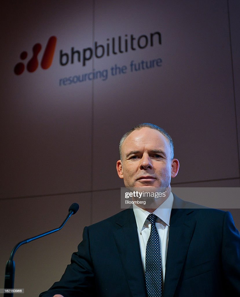 Marius Kloppers, chief executive officer of BHP Billiton Ltd., attends a news conference in Sydney, Australia, on Wednesday, Feb. 20, 2013. BHP Billiton, the world's biggest mining company, named its copper unit head Andrew Mackenzie as chief executive officer to succeed Marius Kloppers before reporting a 58 percent decline in first-half profit. Photographer: Ian Waldie/Bloomberg via Getty Images