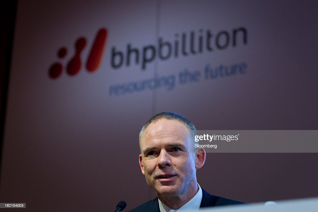 <a gi-track='captionPersonalityLinkClicked' href=/galleries/search?phrase=Marius+Kloppers&family=editorial&specificpeople=4467222 ng-click='$event.stopPropagation()'>Marius Kloppers</a>, chief executive officer of BHP Billiton Ltd., attends a news conference in Sydney, Australia, on Wednesday, Feb. 20, 2013. BHP Billiton, the world's biggest mining company, named its copper unit head Andrew Mackenzie as chief executive officer to succeed <a gi-track='captionPersonalityLinkClicked' href=/galleries/search?phrase=Marius+Kloppers&family=editorial&specificpeople=4467222 ng-click='$event.stopPropagation()'>Marius Kloppers</a> before reporting a 58 percent decline in first-half profit. Photographer: Ian Waldie/Bloomberg via Getty Images
