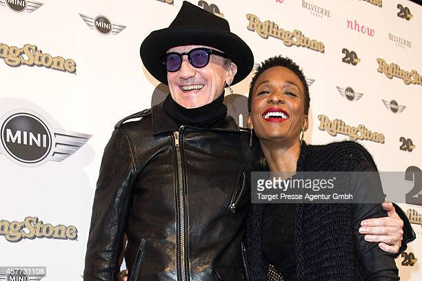 Marius MuellerWesternhagen and Lindiwe Suttle attend the celebration of 20 years Rolling Stone in Germany on October 23 2014 in Berlin Germany