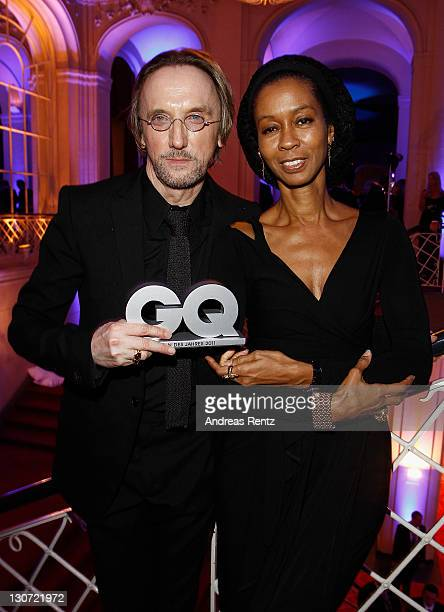Marius MuellerWesternhagen and wife Romney Williams attend the GQ Man of the Year Award 2011 at Komische Oper on October 28 2011 in Berlin Germany
