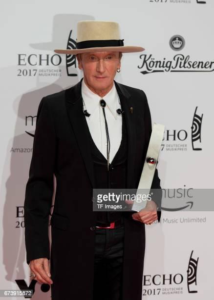 Marius MuellerWesternhagen poses with her awardduring the ECHO German Music Award in Berlin Germany on April 06 2017