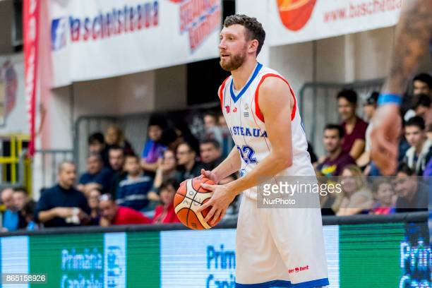 Marius Runkauskas during the LNBM Men's National Basketball League game between CSM Steaua Bucharest and BC Mures TarguMures at Sala Regimentul de...