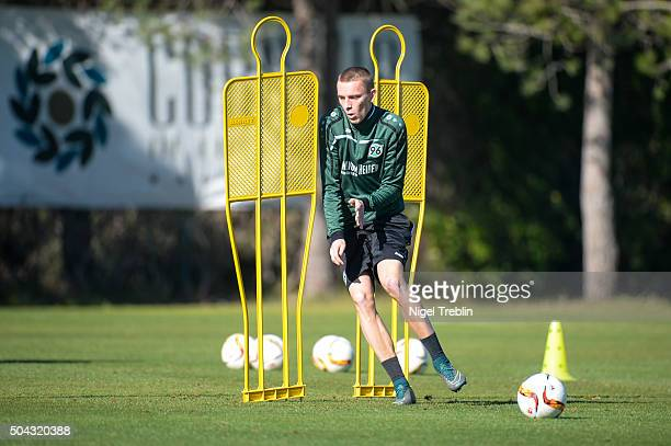 Marius Wolf is pictured during a training session of Hannover during Hannover 96 training camp on January 9 2016 in Belek Turkey