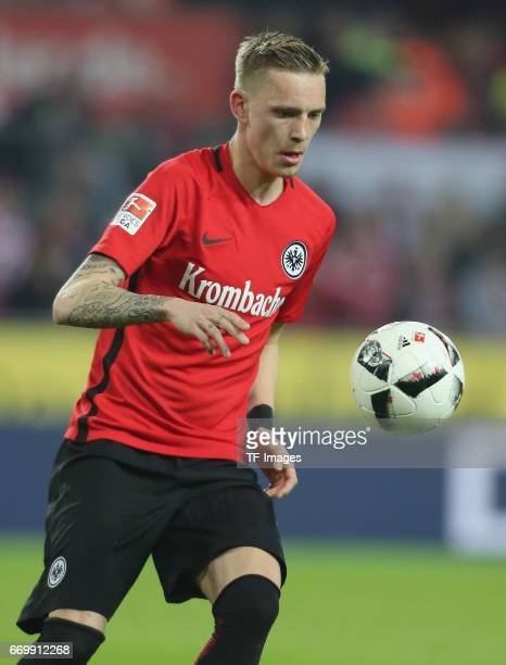 Marius Wolf of Eintracht Frankfurt controls the ball during the German Bundesliga soccer match between 1 FC Cologne and Eintracht Frankfurt in...