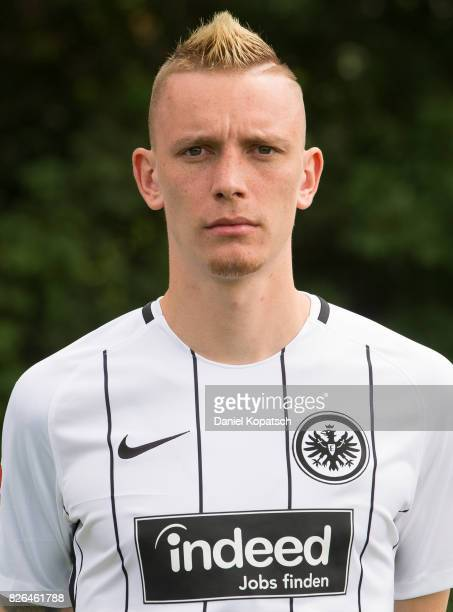 Marius Wolf of Eintracht Frankfurt poses during the team presentation at on August 4 2017 in Frankfurt am Main Germany