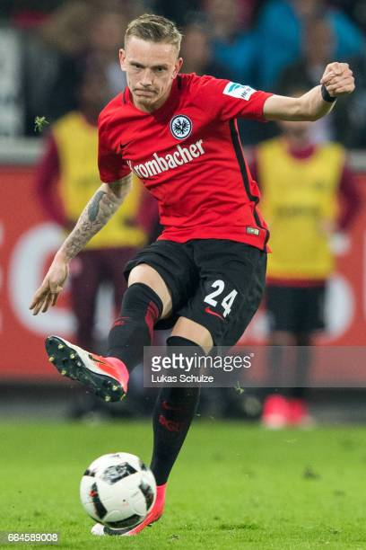 Marius Wolf of Frankfurt in action during the Bundesliga match between 1 FC Koeln and Eintracht Frankfurt at RheinEnergieStadion on April 4 2017 in...