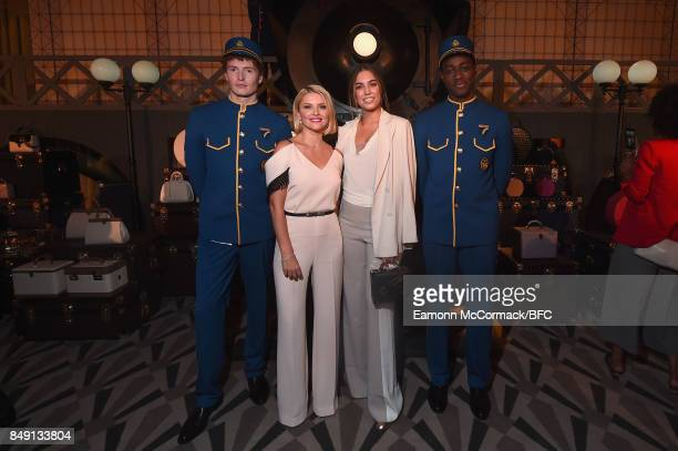 Mariya Dykalo and Amber Le Bon attend the Aspinal of London presentation during London Fashion Week September 2017 on September 18 2017 in London...