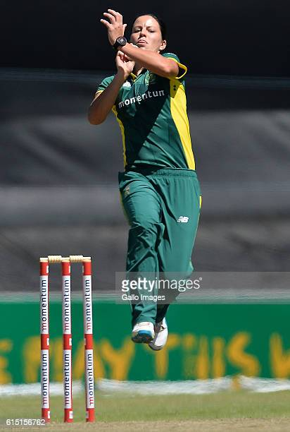 Marizanne Kapp of South Africa during the Fourth Women's ODI between South Africa and New Zealand at Boland Park on October 17 2106 in Paarl South...