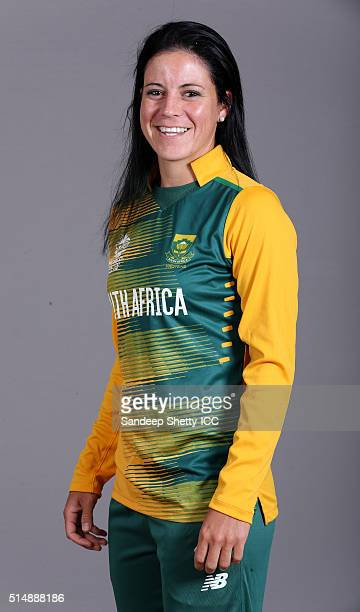 Marizanne Kapp of South Africa during the photocall of the South Africa team ahead of the Women's ICC World Twenty20 India 2016 on March 11 2016 in...