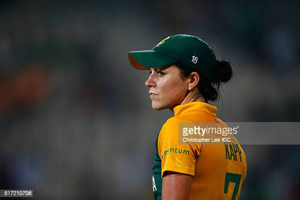 Marizanne Kapp of South Africa during the Women's ICC World Twenty20 India 2016 Group A match between South Africa and Ireland at the Chidambaram...