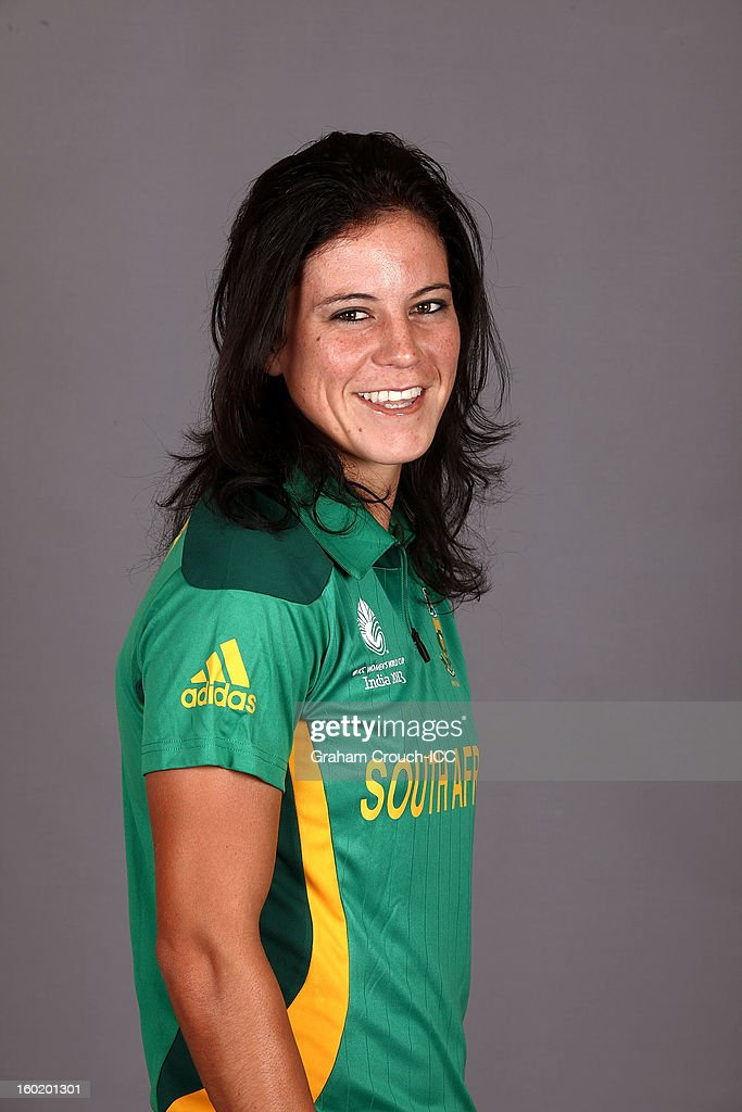 Marizanne Kapp of South Africa poses at a portrait session ahead of the ICC Womens World Cup 2013 at the Taj Mahal Palace Hotel on January 27, 2013 in Mumbai, India.
