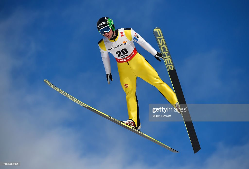 <a gi-track='captionPersonalityLinkClicked' href=/galleries/search?phrase=Marjan+Jelenko&family=editorial&specificpeople=5715054 ng-click='$event.stopPropagation()'>Marjan Jelenko</a> of Slovenia competes during the Men's Nordic Combined HS100 Ski Jumping during the FIS Nordic World Ski Championships at the Lugnet venue on February 20, 2015 in Falun, Sweden.