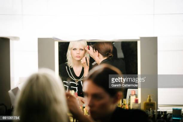 Marjan Jonkman backstage during the amfAR Gala Cannes 2017 at Hotel du CapEdenRoc on May 25 2017 in Cap d'Antibes France