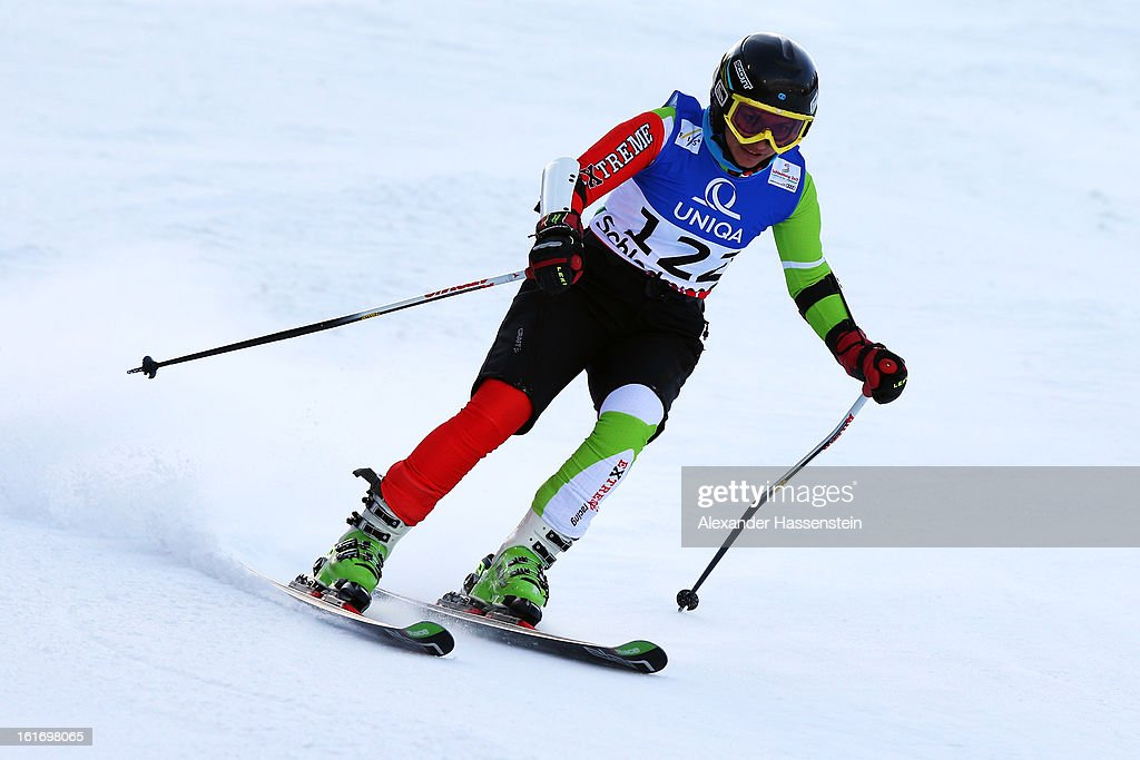 Marjan Kalhor of Iran skis in the Women's Giant Slalom during the Alpine FIS Ski World Championships on February 14, 2013 in Schladming, Austria.