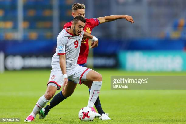 Marjan Radeski Marcos Llorente during the UEFA European Under21 match between Spain and FYR Macedonia on June 17 2017 in Gdynia Poland