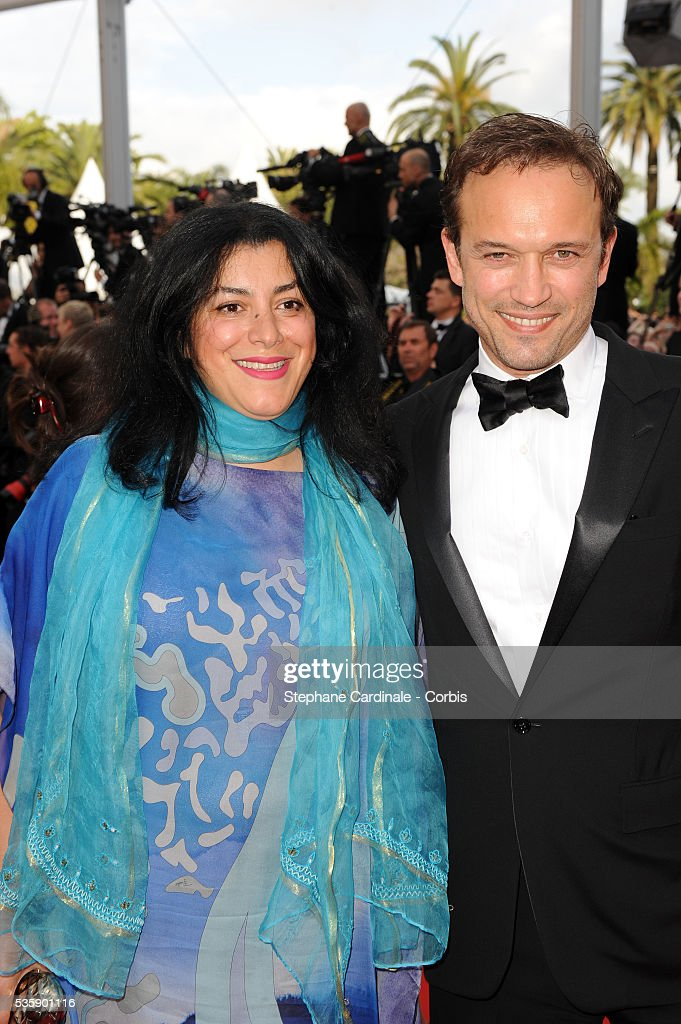 Marjane Satrapi and Vincent Perez at the premiere of ?Robin Hood? during the 63rd Cannes International Film Festival.