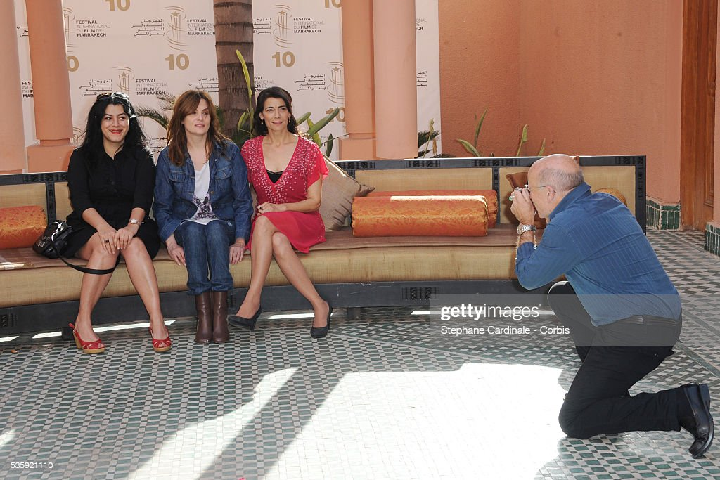 Marjane Satrapi, Emmanuelle Seigner, Hiam Abbas and Volker Schlondorff (President) attend the Photocall of the Short Film Jury, during the10th Marrakech Film Festival, in Marrakech.