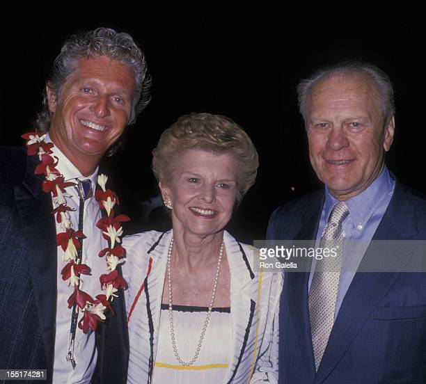 Marjoe Gortner Betty Ford and Gerald Ford attend Kauai Celebrity Sports Invitational on October 8 1988 at the Westin Kauai Resort in Kauai Hawaii