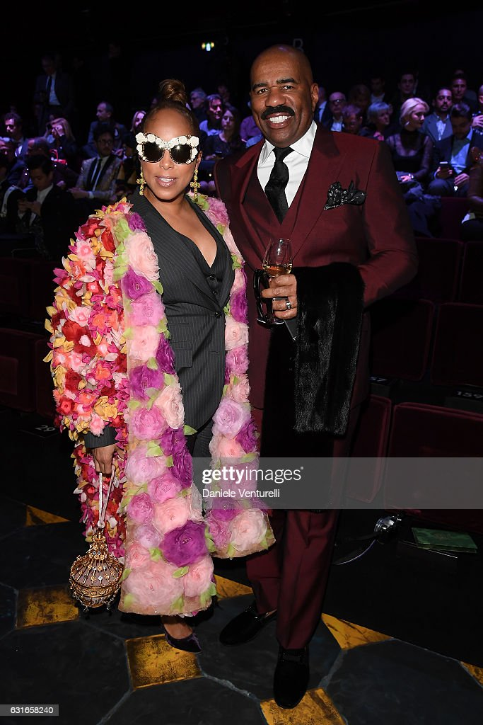 marjorie-bridgeswoods-and-steve-harvey-attend-the-dolce-gabbana-show-picture-id631658240