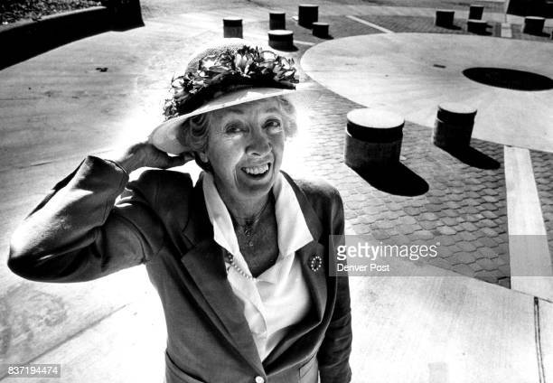 Marjorie 'Bunny' Clement in Clement Park behind her is the fountain that with staff running the day the park is dedicated Credit The Denver Post