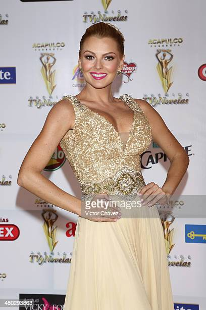 Marjorie de Sousa attends the Premios Tv y Novelas 2014 at Televisa Santa Fe on March 23 2014 in Mexico City Mexico