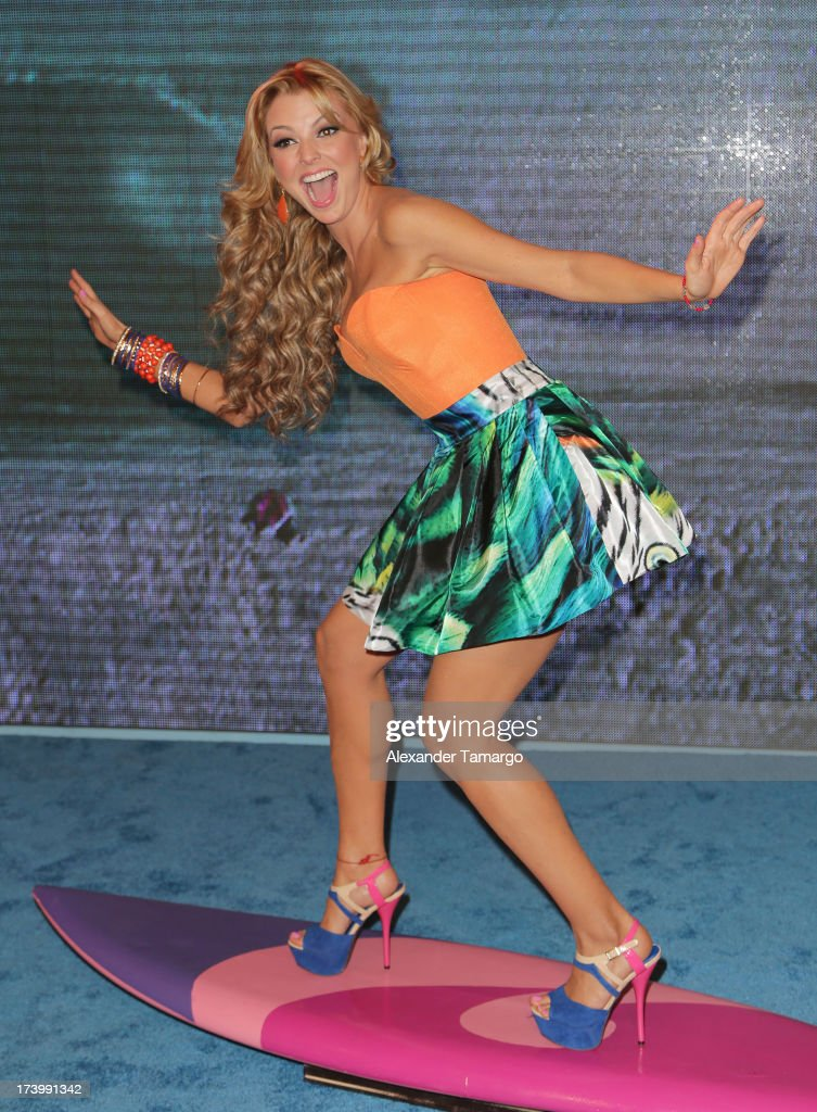 Marjorie de Sousa attends Univision's Premios Juventud at Bank United Center on July 18, 2013 in Miami, Florida.