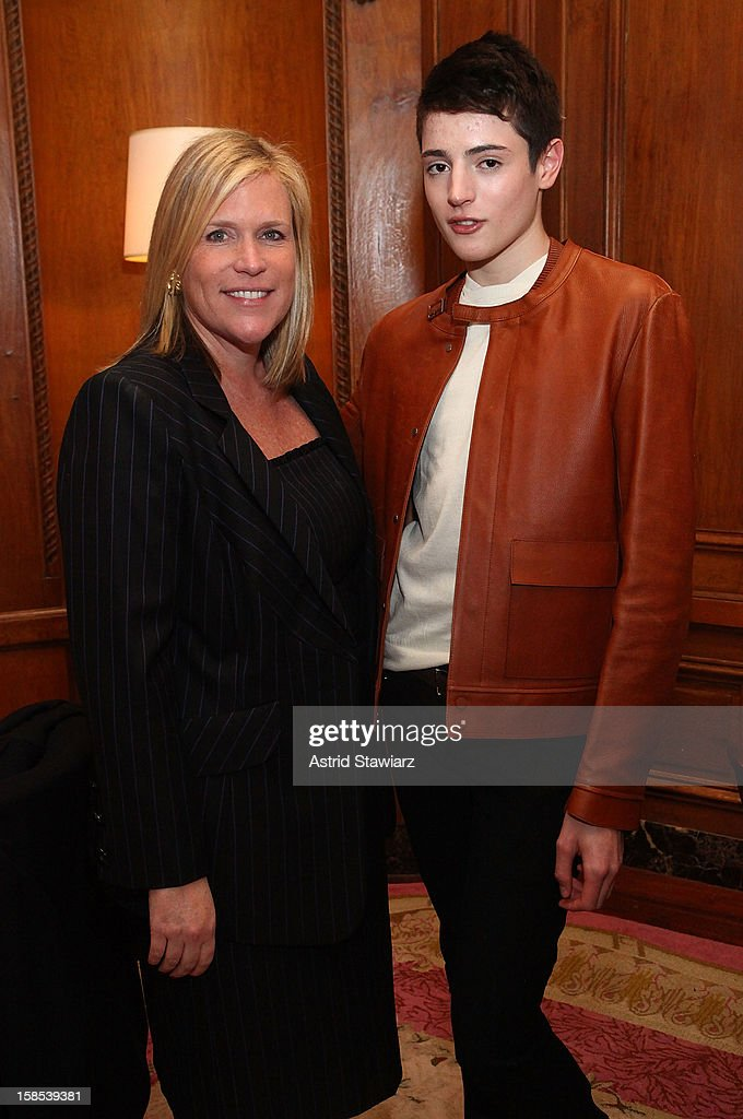 Marjorie Gubelmann and Harry Brant attend Derek Blasberg For Opening Ceremony Stationery Launch Party at Saint Regis Hotel on December 18, 2012 in New York City.