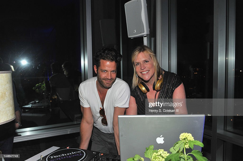 DJ Marjorie Gubelmann (R) and <a gi-track='captionPersonalityLinkClicked' href=/galleries/search?phrase=Nate+Berkus&family=editorial&specificpeople=4350268 ng-click='$event.stopPropagation()'>Nate Berkus</a> attend Liz Lange for Target 10th Anniversary Party at The Glasshouses on May 16, 2012 in New York City.