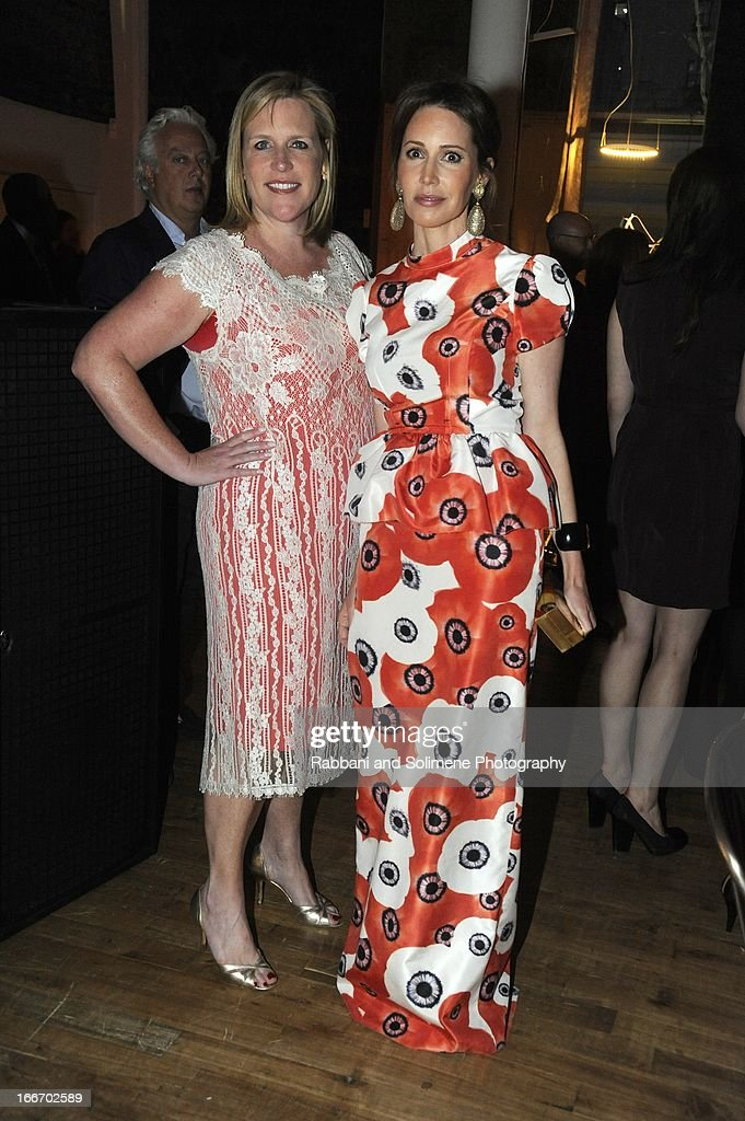 Marjorie Gubelmann and Samatha Boardman attend the 2013 Art Production Fund Gala at ABC Home & Carpet on April 15, 2013 in New York City.