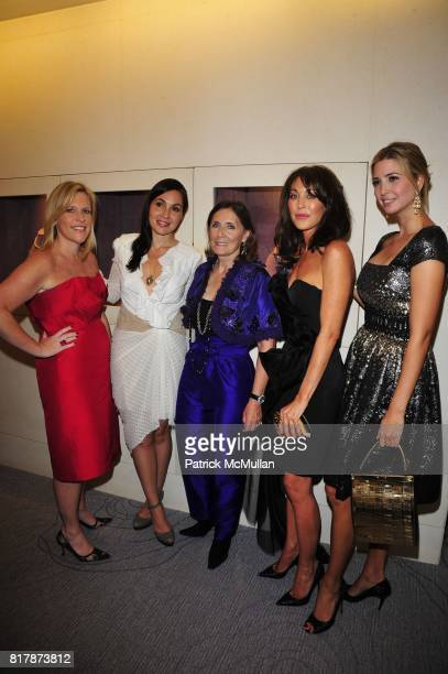 Marjorie Gubelmann Fabiola Beracasa Ann Ziff Tamara Mellon and Ivanka Trump attend Tamsen Z Store Opening Event at Tamsen Z Boutique NYC on September...
