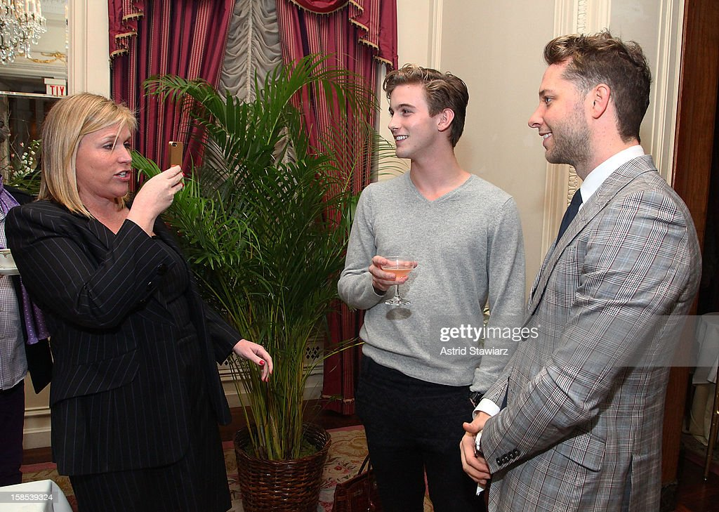 Marjorie Gubelmann ,RJ King and Derek Blasberg attend Derek Blasberg For Opening Ceremony Stationery Launch Party at Saint Regis Hotel on December 18, 2012 in New York City.