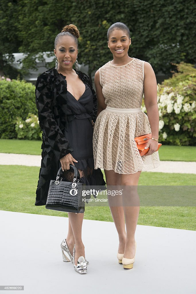 Marjorie Harvey and her daughter Lori Harvey day 2 of Paris Haute Couture Fashion Week Autumn/Winter 2014, on July 7, 2014 in Paris, France.