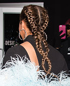 Marjorie Harvey hair detail is seen outside the Marchesa Fall 2016 fashion show during New York Fashion Week at The Dock Skylight at Moynihan Station...