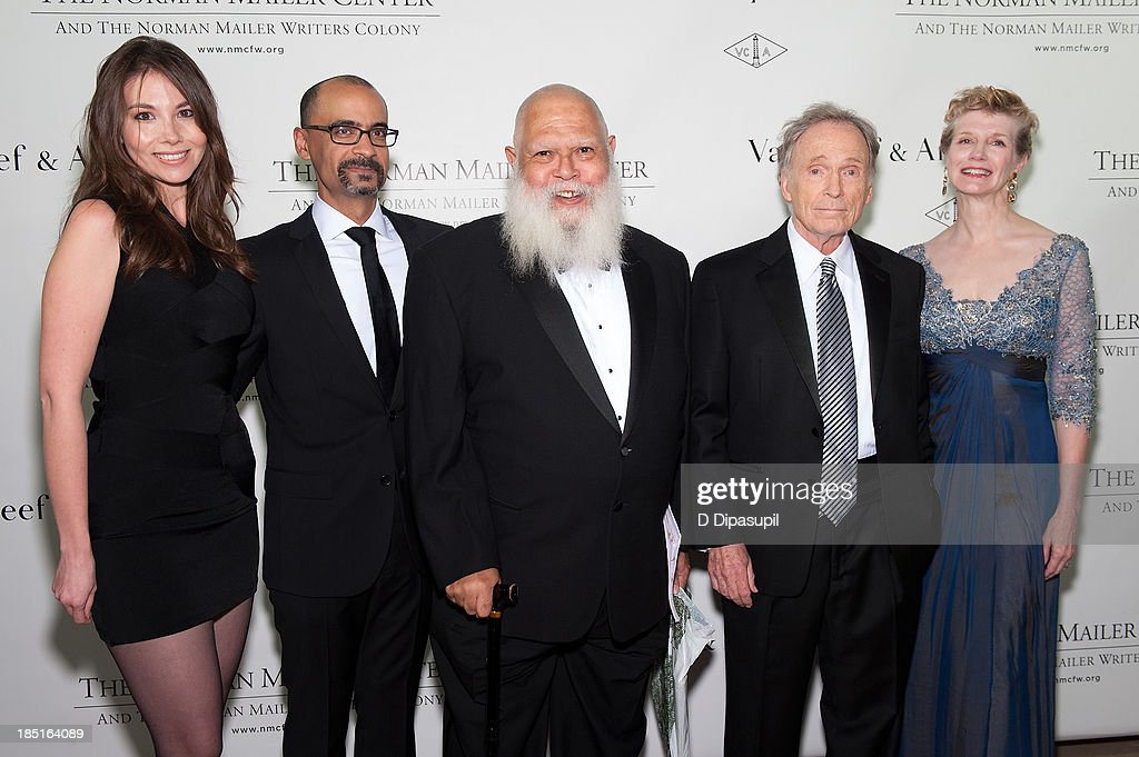 Marjorie Liu, Junot Diaz, Samuel Delany, <a gi-track='captionPersonalityLinkClicked' href=/galleries/search?phrase=Dick+Cavett&family=editorial&specificpeople=217287 ng-click='$event.stopPropagation()'>Dick Cavett</a>, and Martha Rogers attend the 2013 Norman Mailer Center gala at the New York Public Library on October 17, 2013 in New York City.