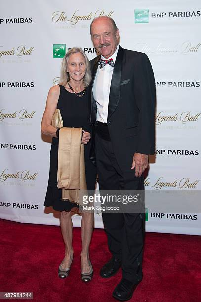 Marjory Gengler and Former Tennis Player and ITHF President Stan Smith attend the 2015 International Tennis Hall of Fame legends ball at Cipriani...