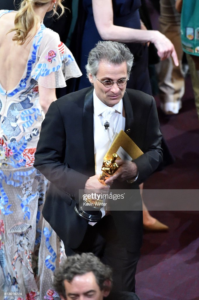 Mark A. Mangini, winner of the Best Sound Editing award for 'Mad Max: Fury Road,' in the audience during the 88th Annual Academy Awards at the Dolby Theatre on February 28, 2016 in Hollywood, California.