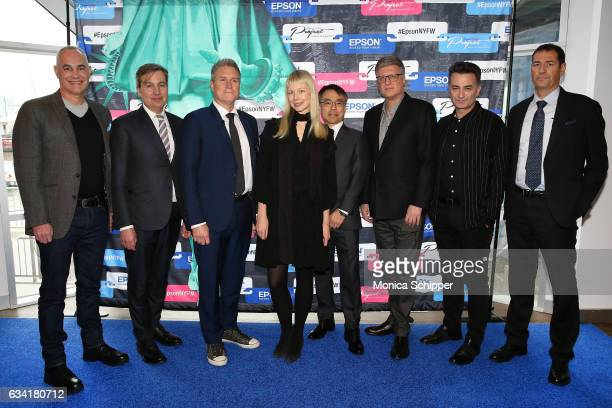 Mark A Sunderland Anthony Cenname Barry McGeough Erin Fetherston Sunao Murata Tom Nastos Assaf Ziv and Paolo Crespi attend the Epson Digital Couture...