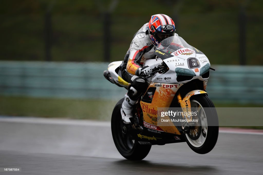 Mark Aitchison (#8) of Australia on the Ducati 1089R for Team Effenbert Liberty Racing competes during the World Superbikes Practice Session at TT Circuit Assen on April 26, 2013 in Assen, Netherlands.