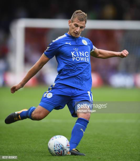 Mark Albrighton of Leicester in action during the preseason friendly match between Luton Town and Leicester City at Kenilworth Road on July 26 2017...