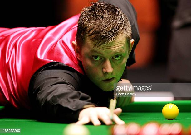 Mark Allen in action during his match against Neil Robertson during day three of the The Masters at Alexandra Palace on January 17 2012 in London...