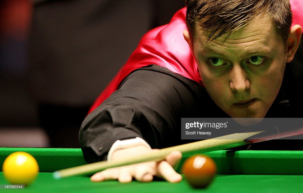 Mark Allen in action during his match against Neil Robertson during day three of the The Masters at Alexandra Palace on January 17, 2012 in London, England.
